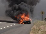 Lamborghini Aventador LP 700-4 on fire in Southern California - Image courtesy John Evans