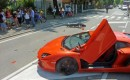 Lamborghini Aventador LP 700-4 that crashed into a motorbike - Image courtesy Romagna Noi