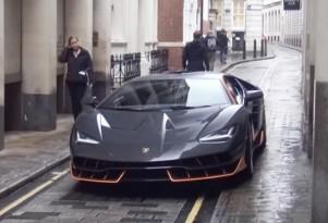 Lamborghini Centenario on the set of 'Transformers: The Last Knight'
