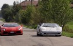 Lamborghini Aventador And Countach On The Streets Of Sant'Agata: Video