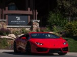 Lamborghini drive experience at the Waldorf Astoria