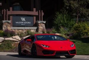 Lamborghini drive experience at the Waldorf Astoria
