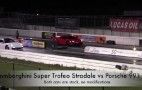 Lamborghini Super Trofeo Stradale Drag Races Porsche 911 Turbo: Video