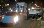 Al-Thani Lamborghini Murcielago Crashes In London