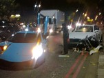 Lamborghini Murcielago crashes in London