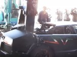 Lamborghini Murciélago destroyed by Taiwanese authorities