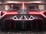 Lamborghini Veneno loaded into a very tight-fitting truck