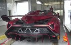 Cramming A $4.5M Lamborghini Veneno Into A Transport Truck: Video