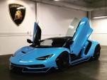Baby blue Lamborghini Centenario