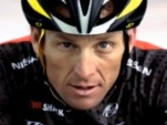 Lance Armstrong in an ad for the 2011 Nissan Leaf