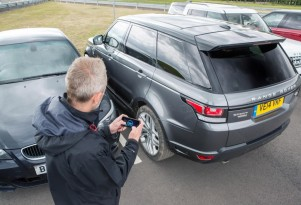 Land Rover Range Rover Sport prototype with remote control function