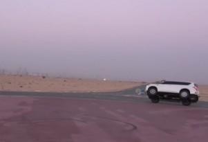 Landcruiser Two-Wheel Driving Prank