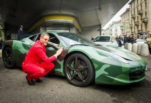 Lapo Elkann at Garage Italia Customs