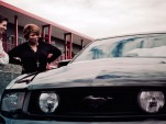 Latifah and Braun with the 2010 Mustang