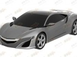 Leaked 2015 Acura NSX patent image. Image via Car News China.