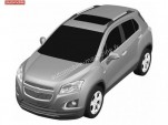Leaked patent for Chevrolet's version of the Buick Encore/Opel Mokka