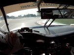 Leh Keen at the wheel of the Brumos Porsche 911 GT3 Cup on Drive