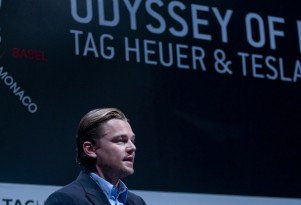 Leonardo DiCaprio at Odyssey of Pioneers launch 