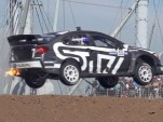 Let's go for a ride along in a 600-hp Subaru Rallycross car