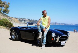 Lewis Hamilton and his original 1966 Shelby Cobra 427
