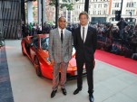 Lewis Hamilton and Jenson Button open McLaren Automotive's first showroom