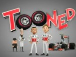 Lewis Hamilton and Jenson Button star in Tooned