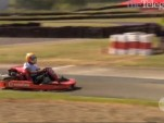 Lewis Hamilton shows his karting ability at Eastern Creek, near Melbourne, Australia