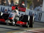 Mercedes MP4-24 on course at the Australian GP