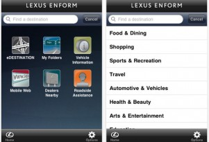 Lexus Launches Enform iPhone App -- Blackberry And Android Not Left In The Cold