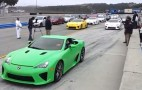 The Most Lexus LFAs Ever On Track Together At Laguna Seca: Video