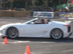 Lexus LFA Roadster at Japanese drift event