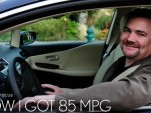 Lexus magazine auto editor Clark Heideger in a 2010 Lexus HS 250h hybrid sedan