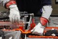 Battery pack assembly at Nissan plant in Smyrna, Tennessee