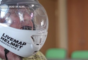 Livemap augmented-reality helmet is in the prototype phase