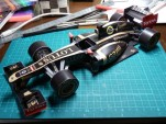 Lotus F1 papercraft racecar - courtesy Lotus F1 Team