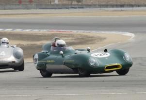 1956 Lotus Eleven at Laguna Seca, Credit: Historicmotorprints.com