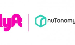 Lyft and nuTonomy logos