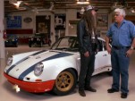 Magnus Walker explains his 1972 Porsche 911 to Jay Leno