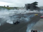 Making fresh donuts at Infineon Raceway.