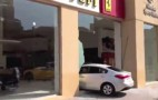 Alleged Drunk Driver Crashes Into Ferrari Dealership, Then Flees: Video