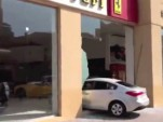 Man crashes Kia into Ferrari dealership in Qatar