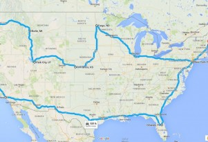 To the four corners of the USA on an electric motorcycle
