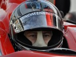 Marco Andretti concentrates on the task ahead of him Photo: Anne Proffit