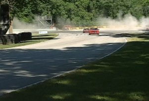 Mark Pombo's crash at Road America