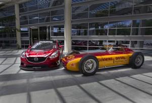 Mazda6 Skyactiv Diesel racecar at Brickyard 400