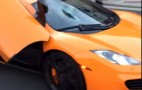 Skateboarder smashes windshield of McLaren