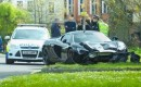McLaren 650S Spider that crashed 10 minutes after delivery - Image via Brentwood Gazette