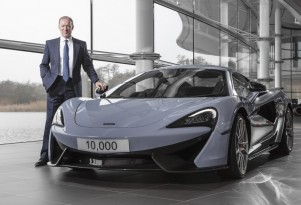 McLaren Automotive CEO Mike Flewitt with the company's 10,000th car