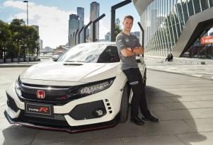 McLaren Formula One driver Stoffel Vandoorne samples the 2017 Honda Civic Type R