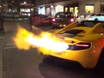 McLaren MP4-12C spits flames